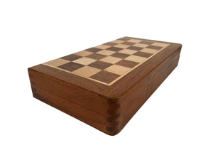 "Wood Magnetic Chess Set - 12"" with 1.25"" Squares and a 2.25"" King"