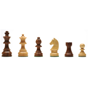 French Staunton Chess Set – Weighted Pieces & Walnut Wood Board 19 in. - American Chess Equipment