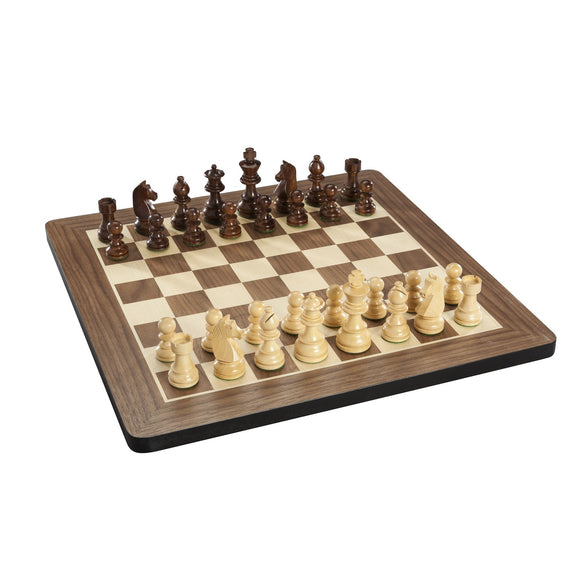 French Staunton Chess Set – Weighted Pieces & Walnut Wood Board 16 in. - American Chess Equipment