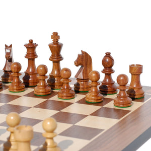 Grand Staunton Chess Set – Tournament Size Weighted Pieces & Walnut Board – 19 in. - American Chess Equipment