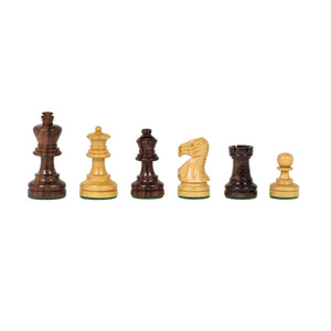 Staunton Chess Set – Weighted Rosewood Pieces & Wooden Board 12 in. - American Chess Equipment