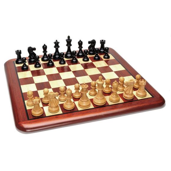 Grand Staunton Redwood Chess Set – Weighted Pieces & Redwood Board 19 in. - American Chess Equipment