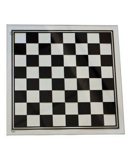 Black and Clear Glass Chess Set - American Chess Equipment