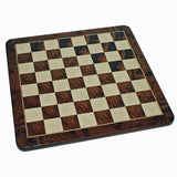 Egyptian Chess Set – Pewter Pieces & Walnut Root Board 16 in. - American Chess Equipment