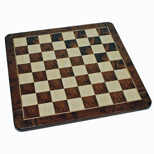 Medieval Chess Set – Handpainted Pieces & Walnut Root Board 16 in. - American Chess Equipment