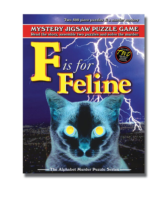 Mystery Jigsaw Puzzle Game – F is for Feline - American Chess Equipment
