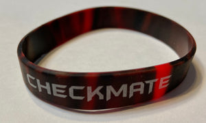 Silicone Checkmate Wristbands - 25 Pack - Assorted Colors Available