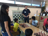 WE Games Standard Chess Teaching Demonstration Board in Two Sizes - Pieces Included - American Chess Equipment