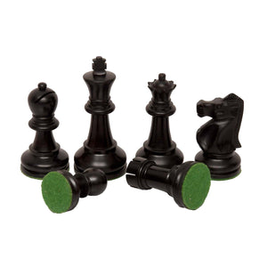 "Bobby Fischer Ultimate Chess Pieces - Ebonized/Boxwood - 3.70"" king - IN STOCK"