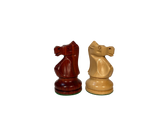 "Bobby Fischer Ultimate Chess Pieces - Redwood/Boxwood - 3.70"" King - In Stock!"