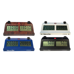 VTEK300 Advanced Digital Chess Clock - Available in Multiple Colors - American Chess Equipment