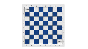Bobby Fischer Blue Tournament Roll Up Chess Board - Vinyl - American Chess Equipment