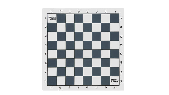 Bobby Fischer Slate Grey Tournament Roll-up Chess Board – Vinyl - American Chess Equipment