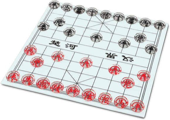 WE Games Glass Chinese Chess Set – Xiangqi