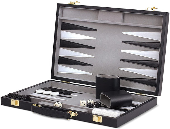 WE Games Black Backgammon Set – 14.75 inches
