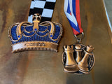 King's Crown Ultimate Chess Medal - Gold, Silver, or Bronze