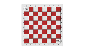 "Bobby Fischer Vinyl Chess Board with 2.25"" squares - Red - American Chess Equipment"
