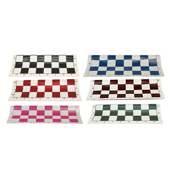 Vinyl Tournament Chess Board in Assorted Colors - 20 inches by WE Games - American Chess Equipment