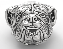 Load image into Gallery viewer, Men's Stainless Steel Bulldog Pet Dog Ring
