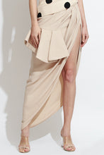 Appliquéd Top and Asymmetric Skirt Set