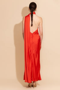 One Shoulder Silk Dress