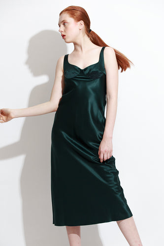 Dark Green Slip Dress
