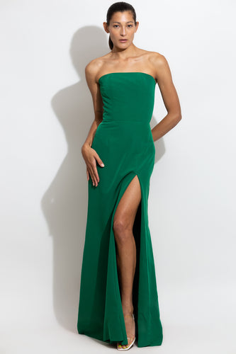 Strapless Slit Gown