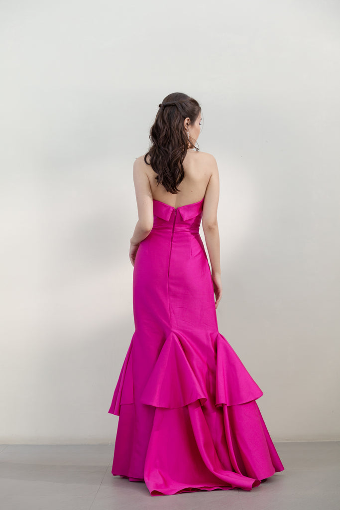 Strapless Gown with Train