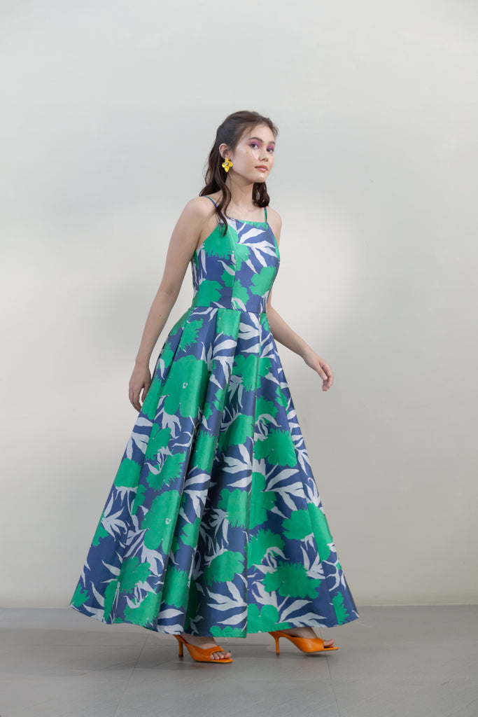 Silk Mikado Gown with Pockets