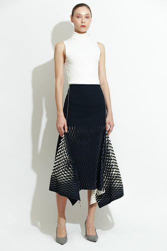 Navy Bias Perf Skirt