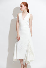 White Bias Perf Dress