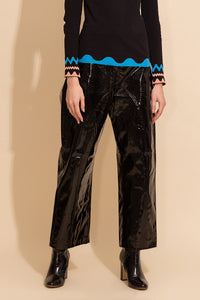 Wide Patent Pants