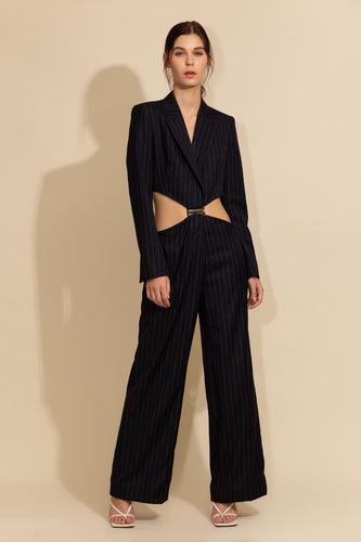 Pinstriped Blazer & Pants