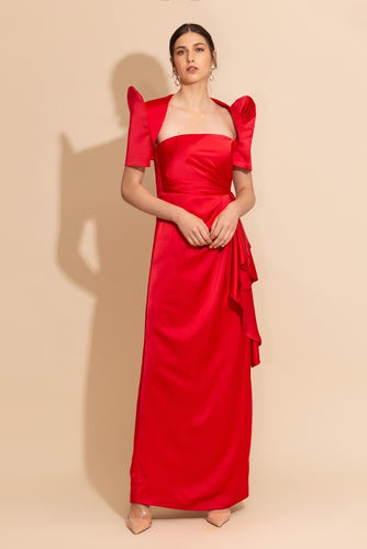 Strapless Gown with Terno Bolero