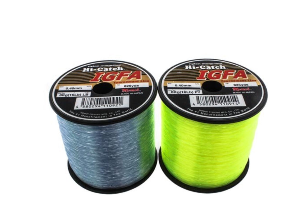Momoi Hi-Catch IGAF 1/4lb Spool Tournament Line 1-10KG