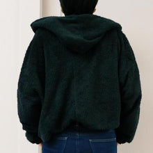 Load image into Gallery viewer, Black Cropped Blanket Hoodie