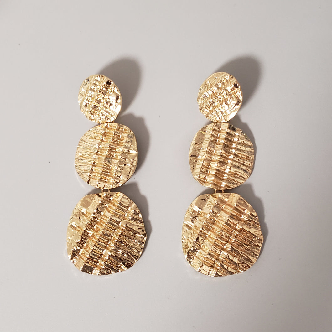Three Tier Statement Earrings