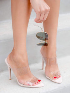 Clear Slip-on Sandals