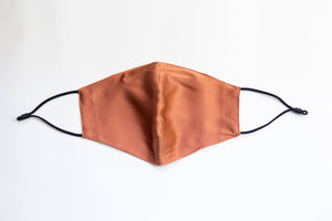 Burnt Orange Silk Mask with 2 Filters
