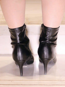 PU Leather Pointy Booties