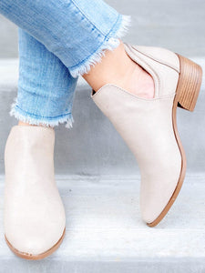 Stone Side Cut Booties