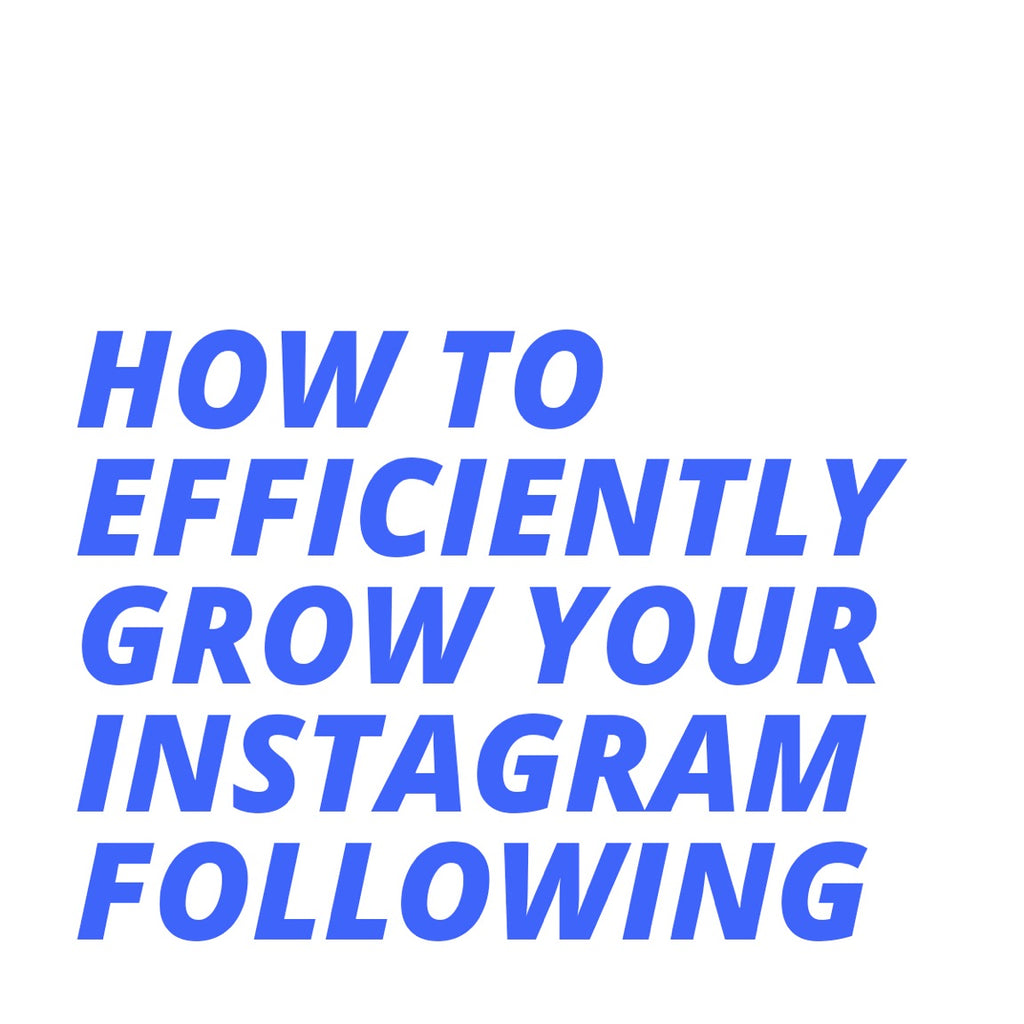 How to Efficiently Grow Your Instagram Following