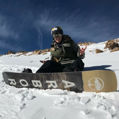 Andrew Johanson PSB Rider with his Arbor Snowboard