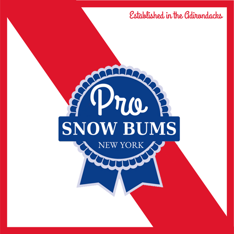 Pro Snow Bums Blue Ribbon Sticker