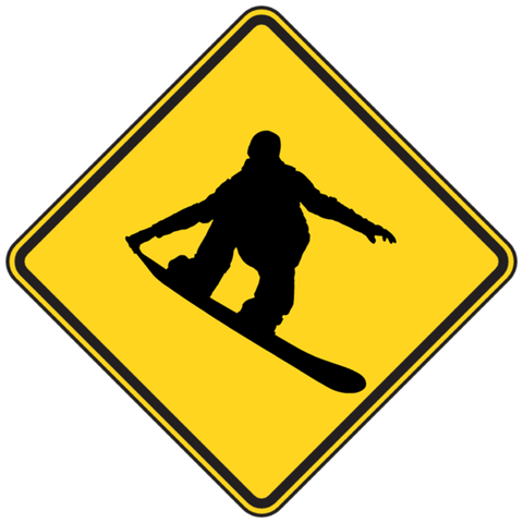 Caution Snowboarders! Sticker