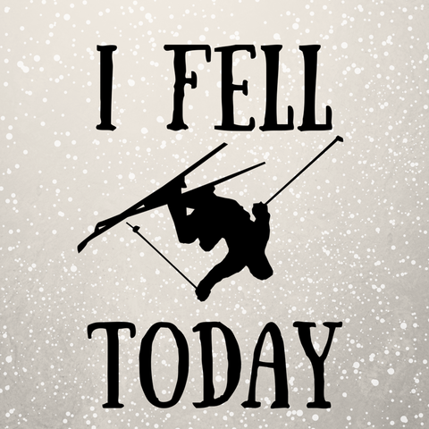 I Fell Today Skier Sticker