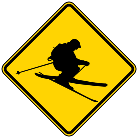 Caution! Skier Crossing