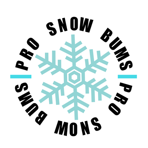 Pro Snow Bums Circle Sticker