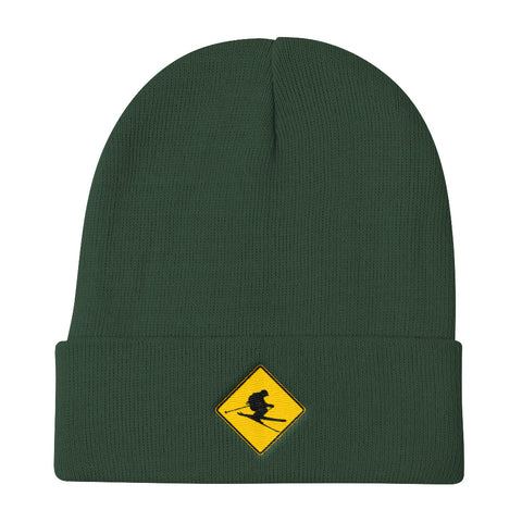 CAUTION: SKIERS! Beanie