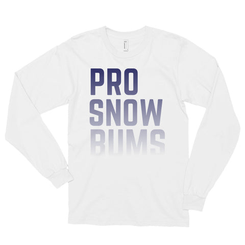 Pro Snow Bums White Long Sleeve